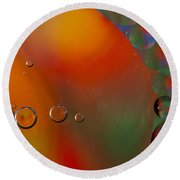 Oil And Water 10 Round Beach Towel