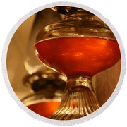 Oil Lamp In Red Round Beach Towel