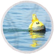 Oil Painting - A Floating Marker Round Beach Towel