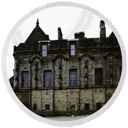 Oil Painting - The Royal Palace Inside Stirling Castle In Scotland Round Beach Towel