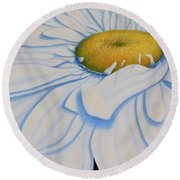 Oil Painting - Daisy Round Beach Towel