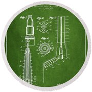 Oil Well Reamer Patent From 1924 - Green Round Beach Towel