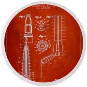 Oil Well Reamer Patent From 1924 - Red Round Beach Towel