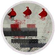 Oiselot - J106164161-2t1b Round Beach Towel