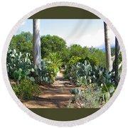 Ojai Desert Garden Round Beach Towel