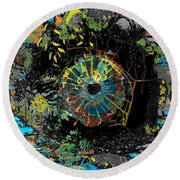 Eye In A Cave Round Beach Towel