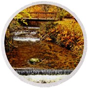 Okanagan Autumn Round Beach Towel
