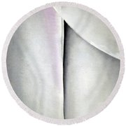 O'keeffe's Line And Curve Round Beach Towel by Cora Wandel