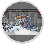 Oklahoma City Thunder Round Beach Towel