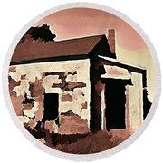 Old Abandoned House In Cape Breton Round Beach Towel by John Malone