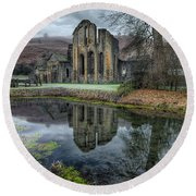 Old Abbey Round Beach Towel by Adrian Evans