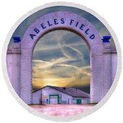 Old Abeles Field - Leavenworth Kansas Round Beach Towel