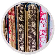 Old Account Books Round Beach Towel