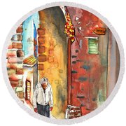 Old And Lonely In Italy 04 Round Beach Towel