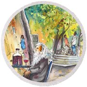 Old And Lonely In Italy 05 Round Beach Towel