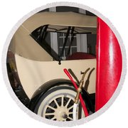 Old Automobile Round Beach Towel