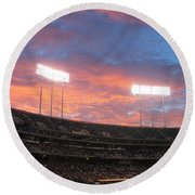 Old Ball Game Round Beach Towel