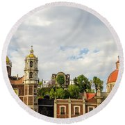 Old Basilica Of Guadalupe Round Beach Towel