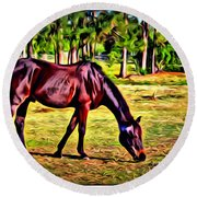Old Bay Horse Round Beach Towel