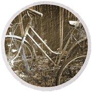 Old Bikes Round Beach Towel