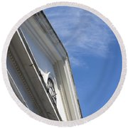 Old Building Round Beach Towel