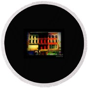 Old Buildings 6th Avenue - Vintage Nyc Architecture Round Beach Towel