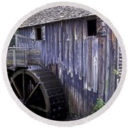 Old Cades Cove Mill Round Beach Towel