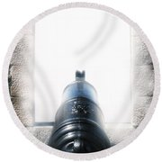 Old Cannon Round Beach Towel