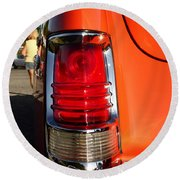 Old Car Tail Light Round Beach Towel