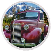Old Chevy Pickup Ca5073-14 Round Beach Towel