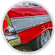 Old Chevy Round Beach Towel