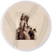 Old Cheyenne Round Beach Towel