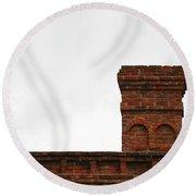 Old Chimney Round Beach Towel