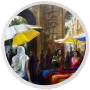 Old City Ahmedabad Series 8 Round Beach Towel