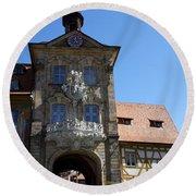 Old City Hall - Bamberg Round Beach Towel