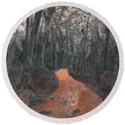 Old Connecticut Path Round Beach Towel