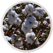 Old Cotton Fields Back Home Round Beach Towel by Beverly Guilliams