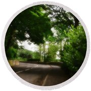 Old Country Road - Peak District - England Round Beach Towel