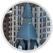 Old County Hall Winter 2013 Round Beach Towel