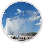 Old Faithful. With Thanks To Lee Round Beach Towel