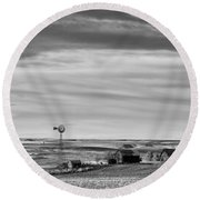 Old Farm - Baseline Road - Waterville - Waterville - Washington - May 2013 Round Beach Towel