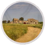 Old Farm - Barn Round Beach Towel