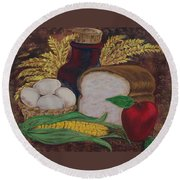 Old Fashioned Goodness Round Beach Towel