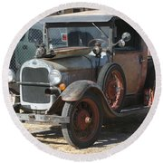 Old Ford Round Beach Towel
