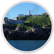 Old Fort Amherst By Barbara Griffin Round Beach Towel