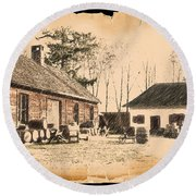 Old Fort Langley 1 Round Beach Towel