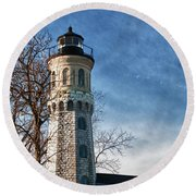 Old Fort Niagara Lighthouse 4478 Round Beach Towel
