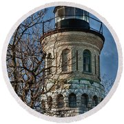Old Fort Niagara Lighthouse 4484 Round Beach Towel