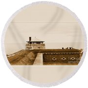 Old Fort Niagara North Redoubt Round Beach Towel