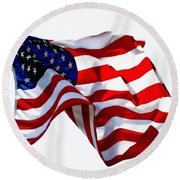 America The Beautiful Usa Round Beach Towel